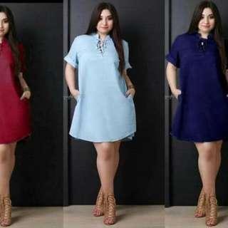 Plussized Plain Dress
