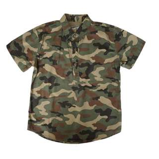 Camo Button Down Shirt (8 – 12Y)