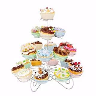 Detachable 4 Layers Iron Cake Stand 13 Cupcake