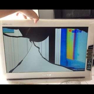 TV LED Polytron 20 inch (HD, eco-mode, USB, HDMI, VGA) - kondisi apa adanya #REPRICE