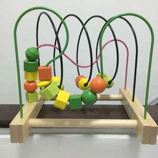IKEA Mula bead roller coaster