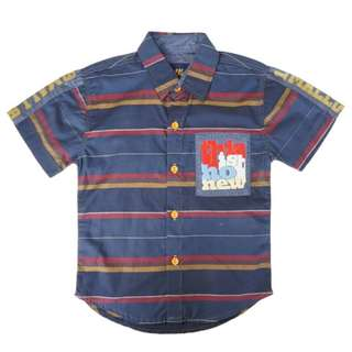Dark Blue Stripe Shirt (4 – 7Y)