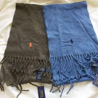 Ralph Lauren cashmere scarf Couple 羊毛頸巾 YSL