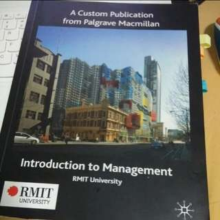 RMIT Intro to Management textbook