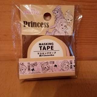 (包平郵)全新日本迪士尼公主MT紙膠紙