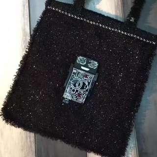 正品 98%新 Chanel 限量版機器人Tweed Tote Bag 明星同款!