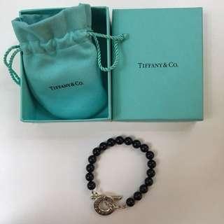 Tiffany 100% real 絕版黑珠手鏈 bracelet