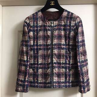 Chanel fake print jacket used Sz 34