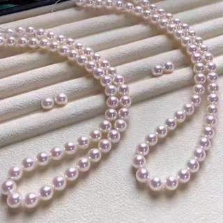客訂Akoya8-8.5mm淨珠鏈配套發貨😁😘customer order