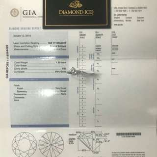 🔪 客人寄賣 1.5卡 I色 VS2 鑽石戒指 $49800 💣💣 📝 帶GIA證書 💕碎石戒指托 💍 襯起都好索 💖