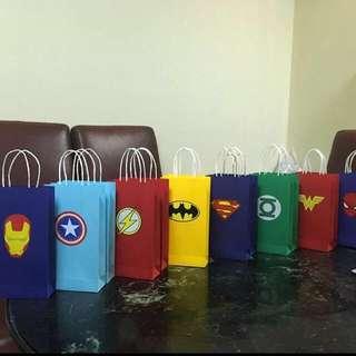 Superhero Paper bag or Goodie bag