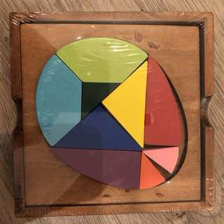 Colourful wooden puzzle