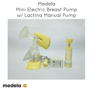 Medela Mini Electric Breast Pump with Medela Lactina Manual Breast Pump
