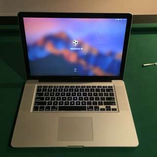 "Apple MacBook Pro 15.6"" Laptop! 8gb ram, 500gb hdd"