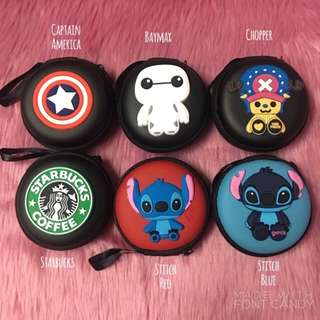 Character Earphone / Coin Pouch