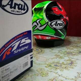 Size L LIMITED EDITION NAKANO SHURIKEN Wif Signature Arai Ram4 R4 Design BNIB 59 - 60cm