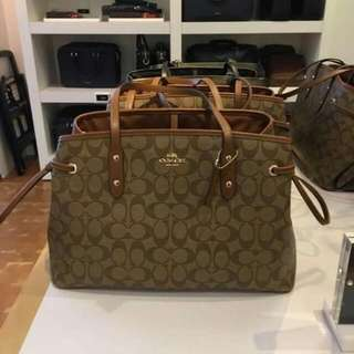 Authentic Coach Drawstring Carryall