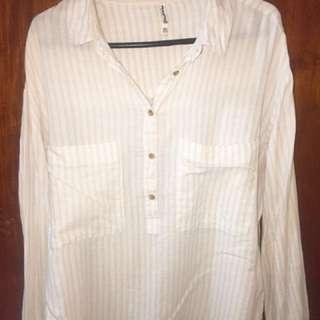 Shirt Stripes Stradivarius size L fit to XL