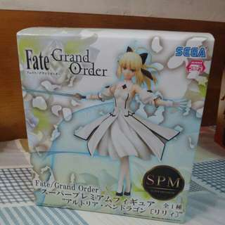 日版SEGA Fate/Grand Order FGO Saber Lily 莉莉塞巴SPM 景品手辦 99.9%新
