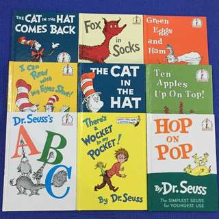 Lot of 9 Dr. Seuss Books (free shipping)