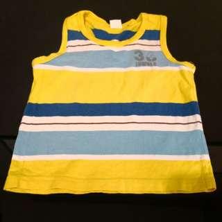 Sleeveless Boy's Shirt