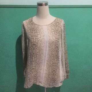 Snakeprint chiffon shirt