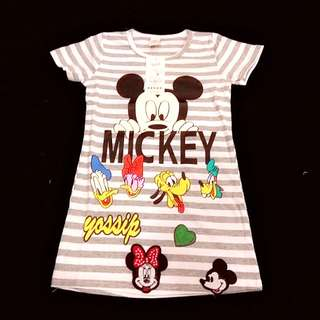 Girl grey Mickey mouse dress size 110 (3-4 yrs old)