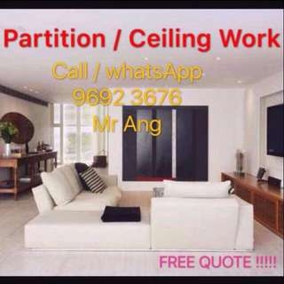 Professional Partition / Ceiling