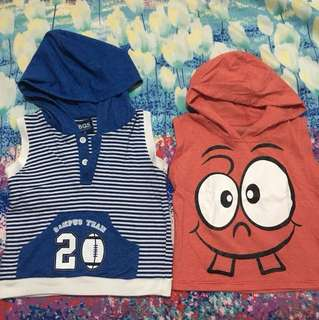 Sando with hoodie 2T