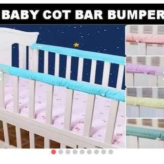 Baby cot bar bumper