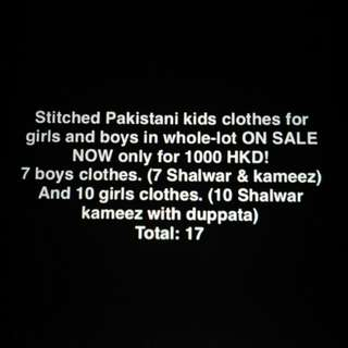 Pakistani clothes for kids