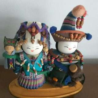 Wooden Mongolian Dolls