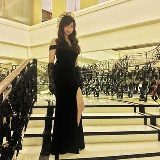 Black Long Gown / Evening Gown