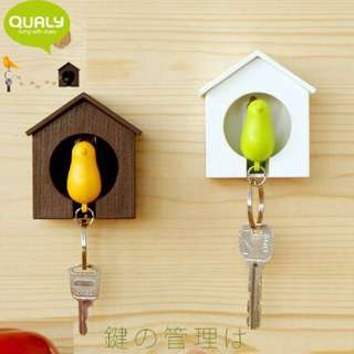 Brand new Sparrow Bird House Keychain Key Holder