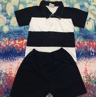 Polo shirt & short 2T