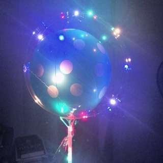 Led balloon in balloon