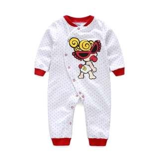 嬰兒純棉細抓絨連身衣