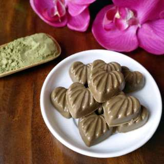 Matcha Strawberry Heart Chocolate
