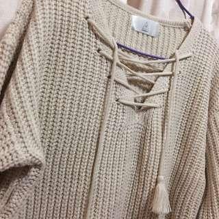 Free size 米白色針織衫