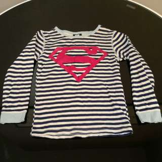 Cotton On Superman Boy's Long Sleeve Shirt