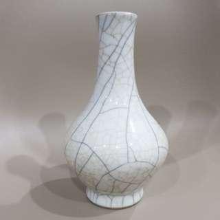 crack glass style vase