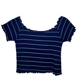 Zara inspired Ribbed Off-shoulder Crop Top