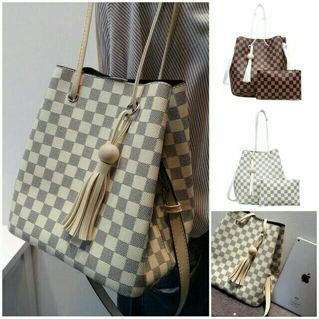 e6af794b33 2in1 LV alike bucket bag, Women's Fashion, Bags & Wallets on Carousell