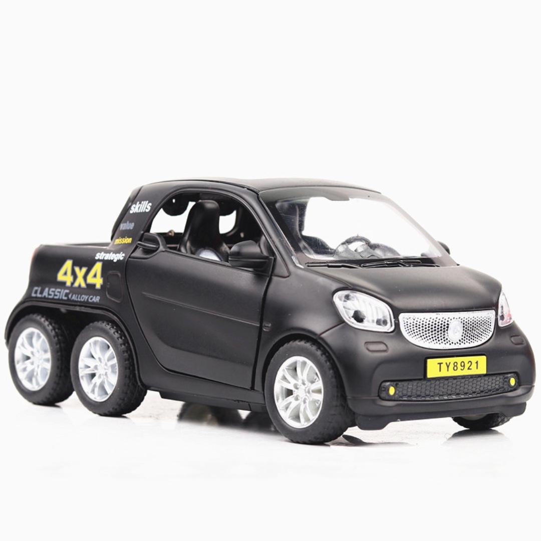 6x6 Smart Pick up truck 貨車 聲光 合金迴力車 黑 藍 黃 紅 1:36 預購 阿米格Amigo