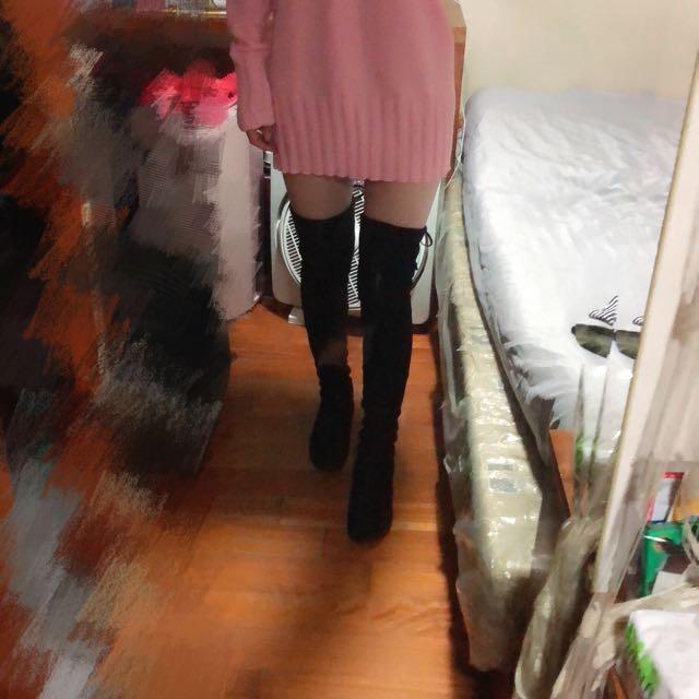 顯瘦過膝長靴