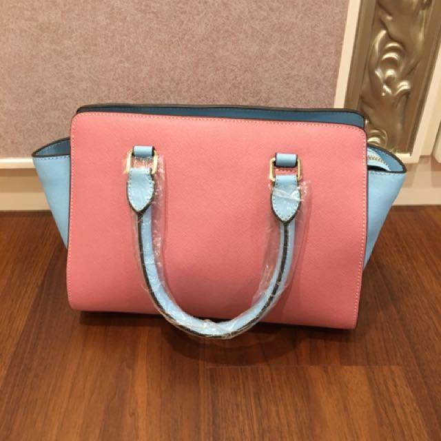 全新包包出清‼️韓系馬卡龍色系 肩背 手提 兩用包