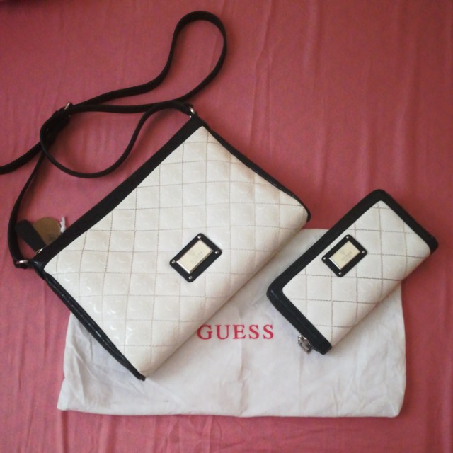 💯✔ Authentic Guess bag and wallet