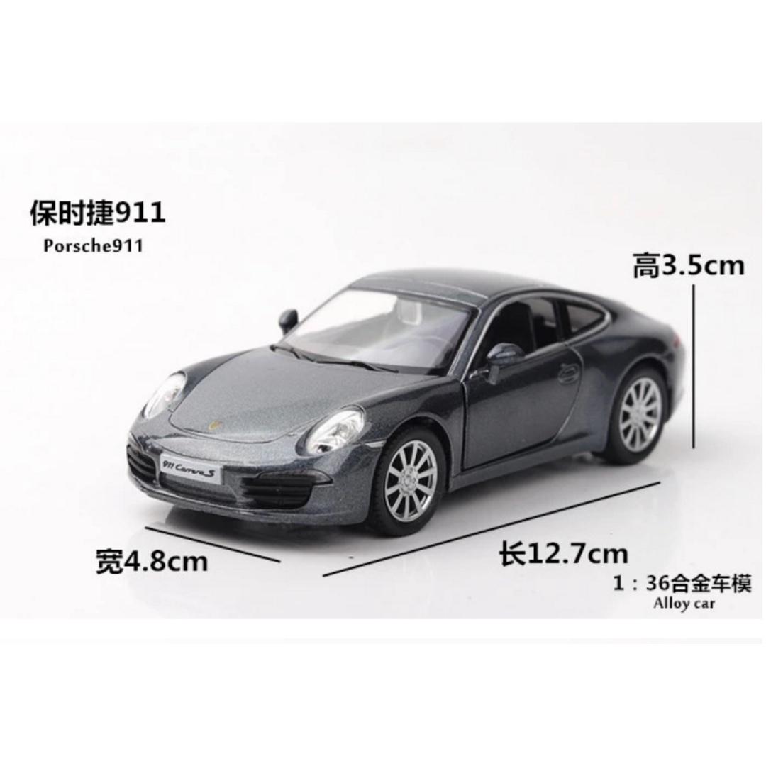 保時捷 Porsche 911 合金迴力車 灰色 紅色 1:36 預購 阿米格Amigo