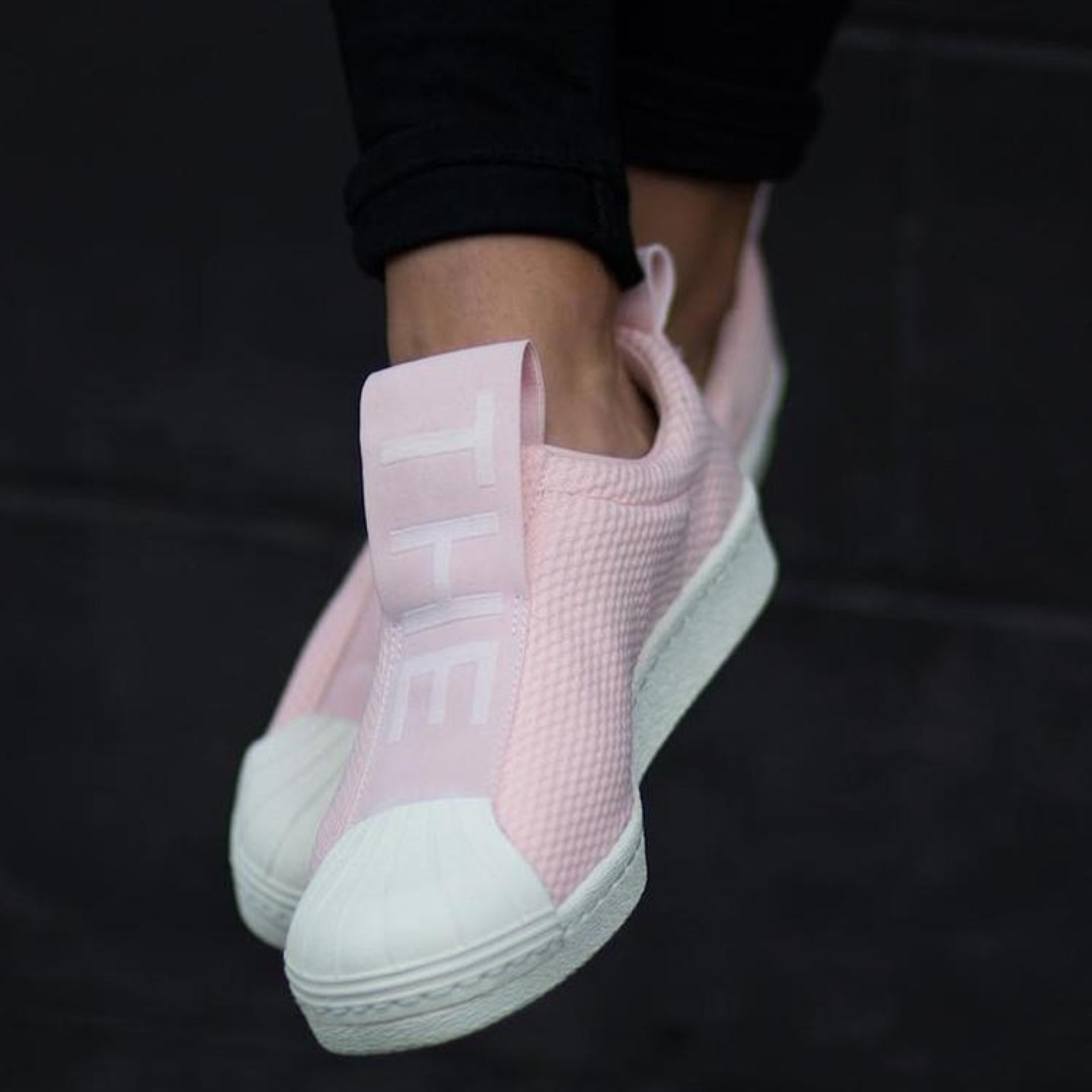 Adidas Superstar BW35 Slip On  Ice Pink Ftwr White Chalk  8c91f024b