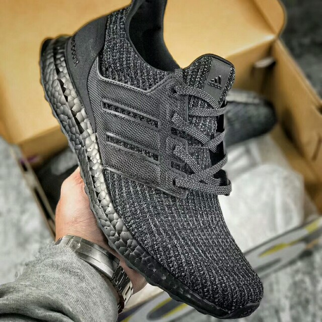 678cd9c1a6228 Adidas Ultra Boost Triple Black UB4